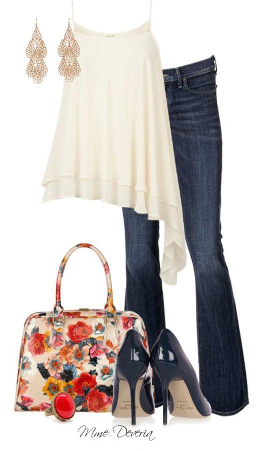 Spaghetti Straps Asymmetrical Cami Summer Outfit outfitspedia