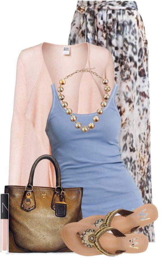 Casual Emily van den Bergh Maxi skirt Spring Outfit outfitspedia