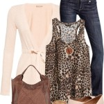 Cute Leopard Printed Jersey Tank Spring Outfit