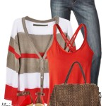 Cute Multistripe Cardigan Spring Outfit