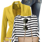Mango Striped Shirt With Blazer Spring Outfit