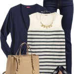 Matching Wedges and Cardigan Spring Outfit