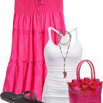 Silk Habotai Skirt Casual Summer Outfit