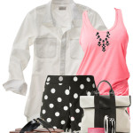 Black, Pink White Casual Summer Outfit