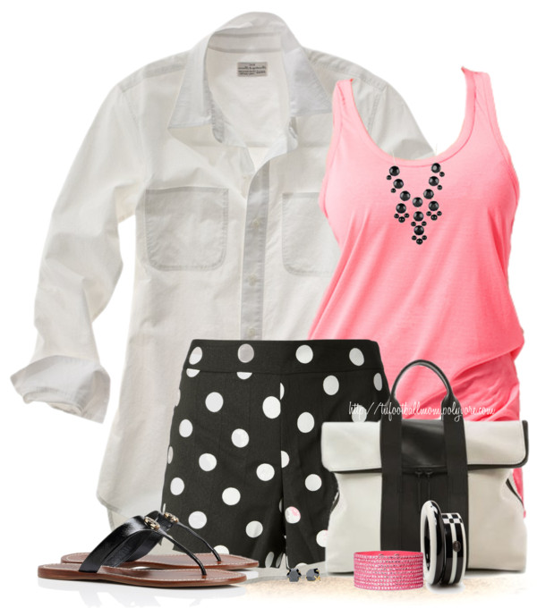 Black, Pink White Casual Summer Outfit outfitspedia