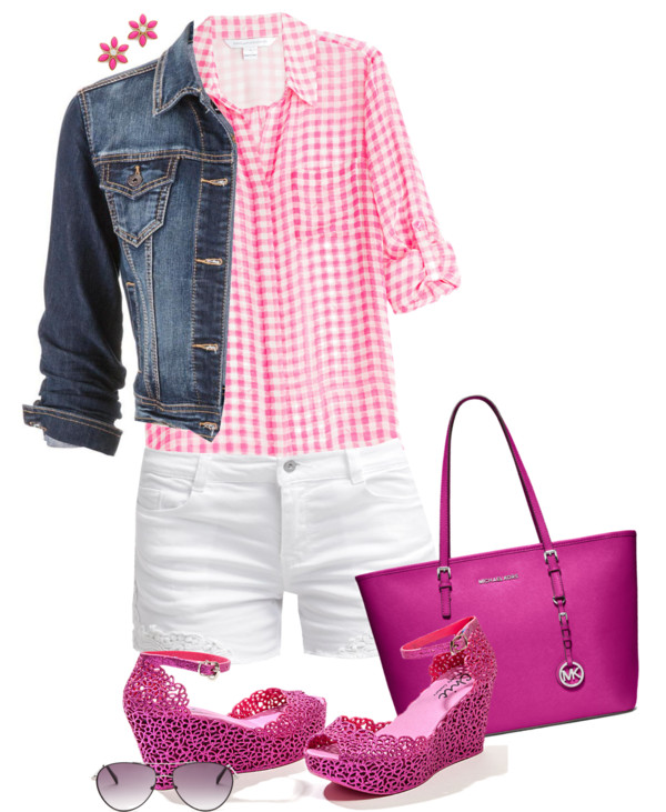 Gingham Shirt Casual Summer Outfit outfitspedia