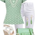 Vintage Polka Dot Top Summer Outfit