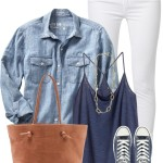 Casual HM Tank Top With Cambray and Sneakers Outfit