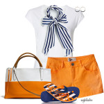 Casual Nautical Bow Summer Outfit