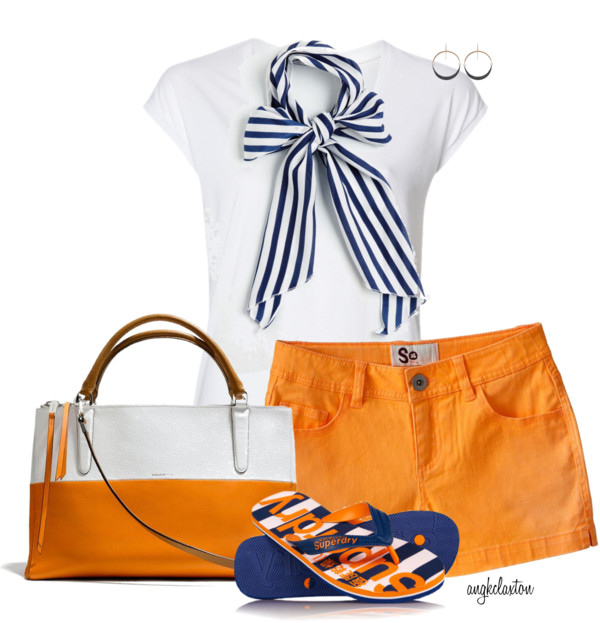 Casual Nautical Bow Summer Outfit outfitspedia