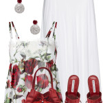 Cute Rose Print Vest Top With Maxi Skirt Summer Outfit