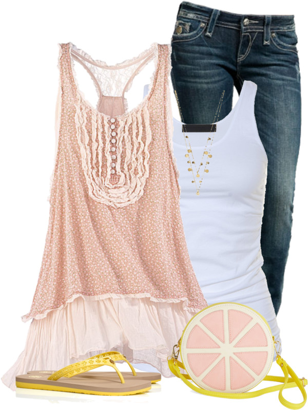 Fantasy Tunic With Fruit Round Bag Summer Outfit outfitspedia
