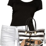 Summer Casual Black And White Outfit