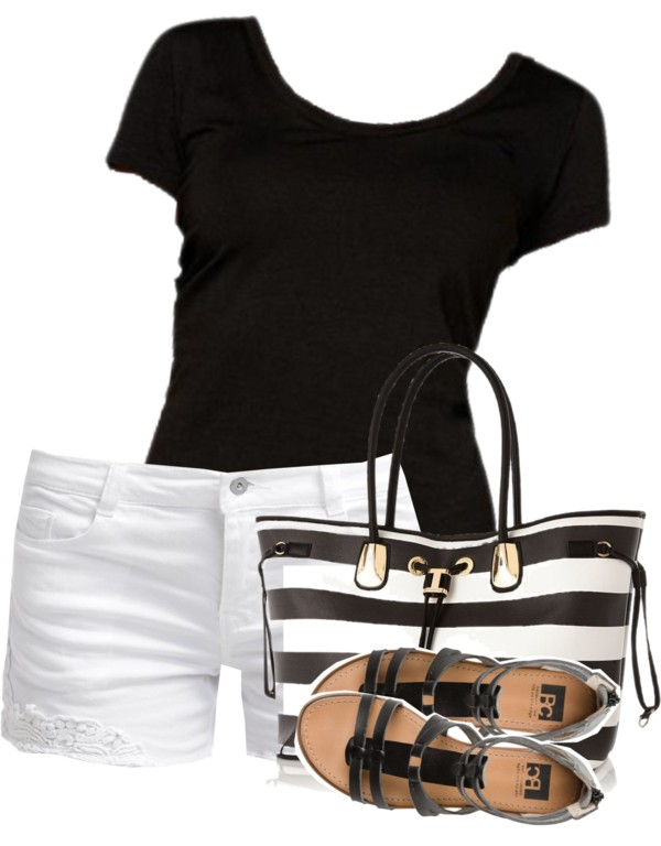 Summer Casual Black And White Outfit outfitspedia