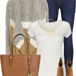 Drape Front Cardigan With Matching Shoes Fall Outfit