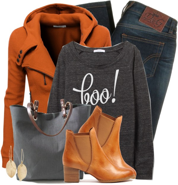 Boo Sweater Casual Fall Outfit outfitspedia