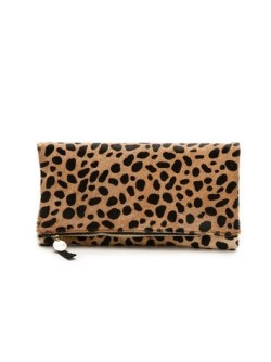 Clare V. Haircalf Fold Over Clutch outfitspedia