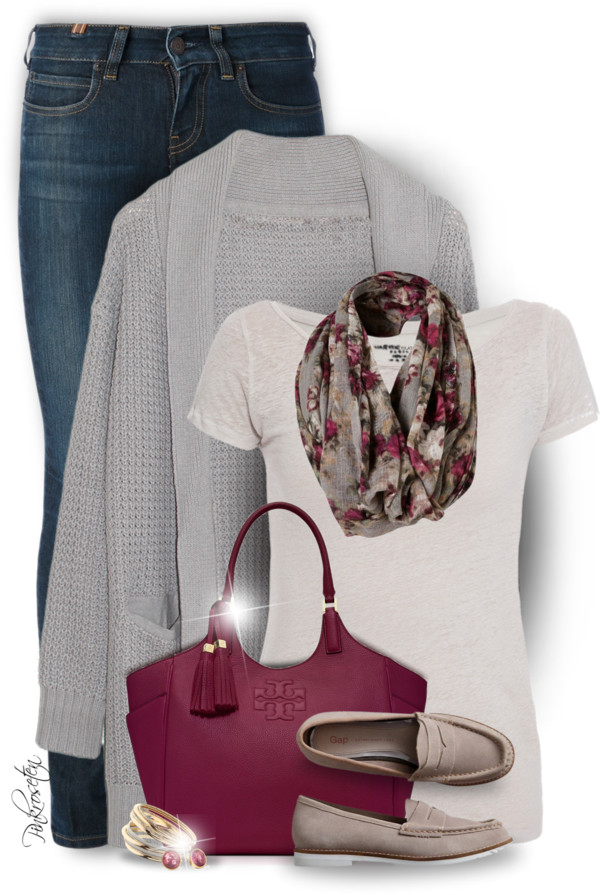 Cozy Cardigan, Skinny Jeans and Loafers Casual Outfit