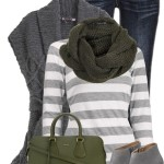 Cozy Grey Knit Sweater Vest Fall Outfit