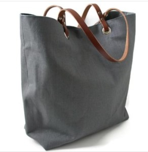 Independent Reign Linen and Leather Beach Bag