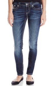 Miss Me Houndstooth-Insert Mid-Rise Skinny Jean outfitspedia