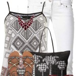 Aztec Print Cami Top With Billabong Sandals Summer Outfit