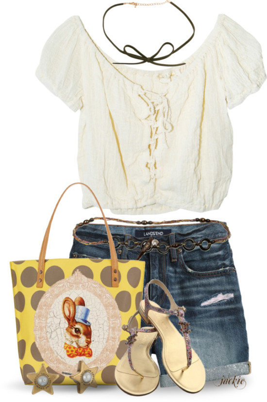 Frontier Crop Top with Shorts Summer Outfit outfitspedia