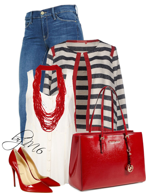 Manila Grace striped denim blazer stylish outfit outfitspedia
