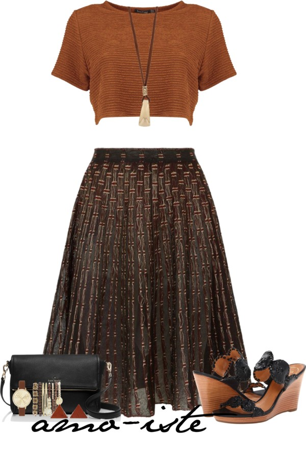Cute Crop Top With Pleated Skirt Outfit outfitspedia