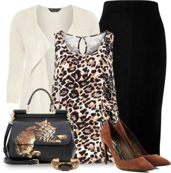 Dolce & Gabbana cat bag stylish outfit outfitspedia