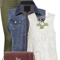 How to Wear Khaki Jeans Spring Outfit outfitspedia