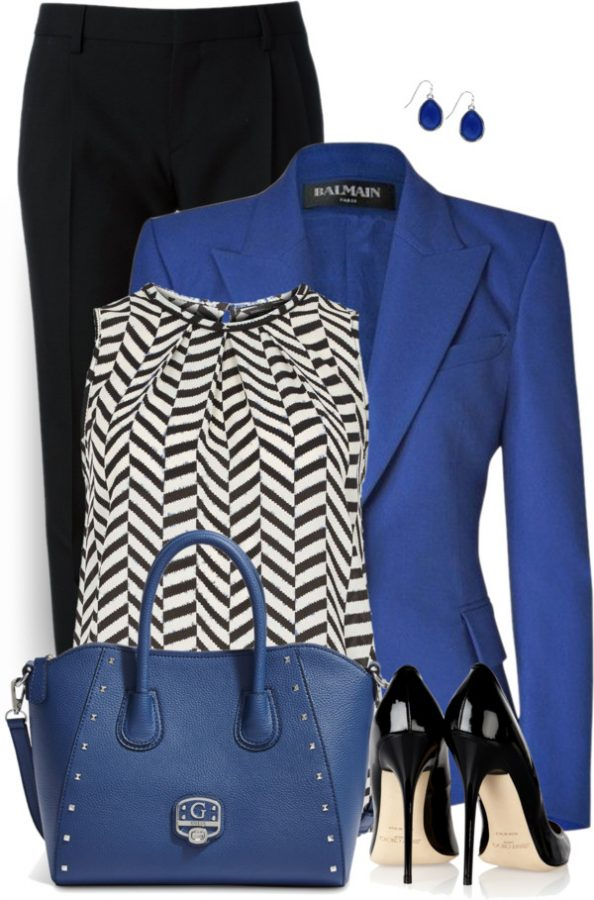 Royal Blue Blazer Work Outfit Style outfitspedia