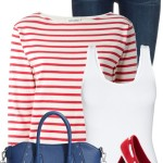 Striped Sweatshirt Casual Spring Outfit