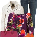 Stylish Trina Turk Floral Pattern Blouse Outfit