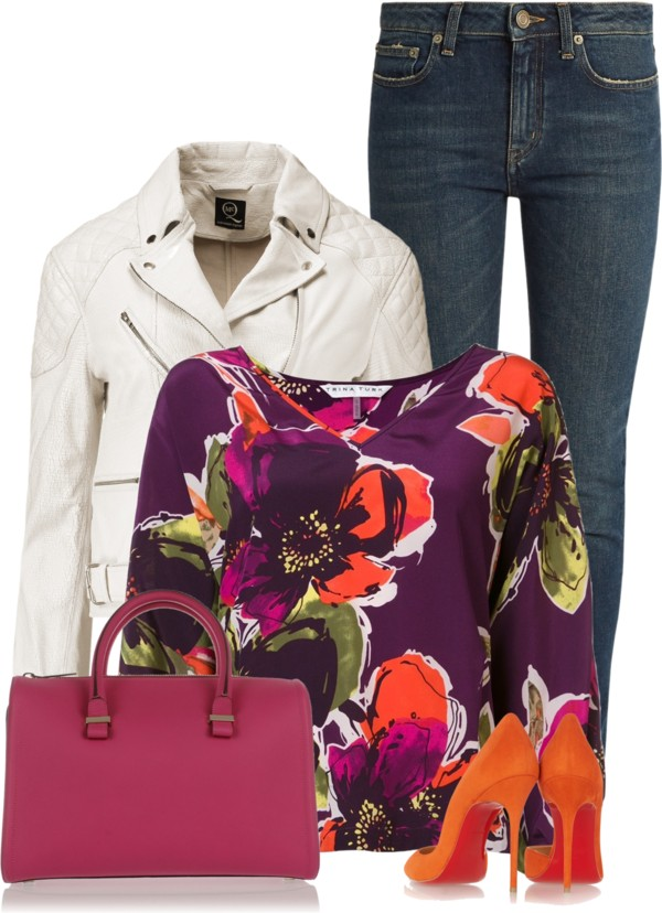 stylish-trina-turk-floral-pattern-blouse-outfit-outfitspedia