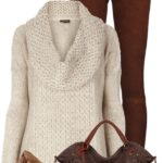 Brown Jeans with Cozy Cowl Neck Jumper and Leopard Flats Fall Outfit