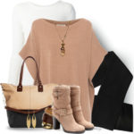 Camel Cashmere Poncho Sweater Cute Fall Outfit