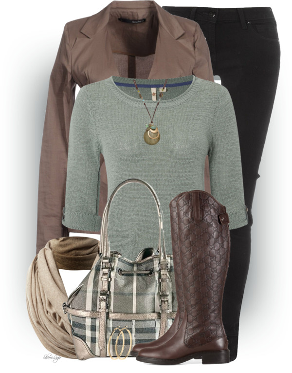 Front Tie Jacket Trendy Fall Outfit Idea outfitspedia