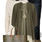 Khaki Green Cover Up Cardigan Casual Fall Outfit