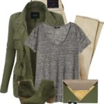 Light Army Cargo Jacket For Fall Outfit