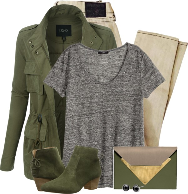 Light Army Cargo Jacket For Fall Outfit outfitspedia