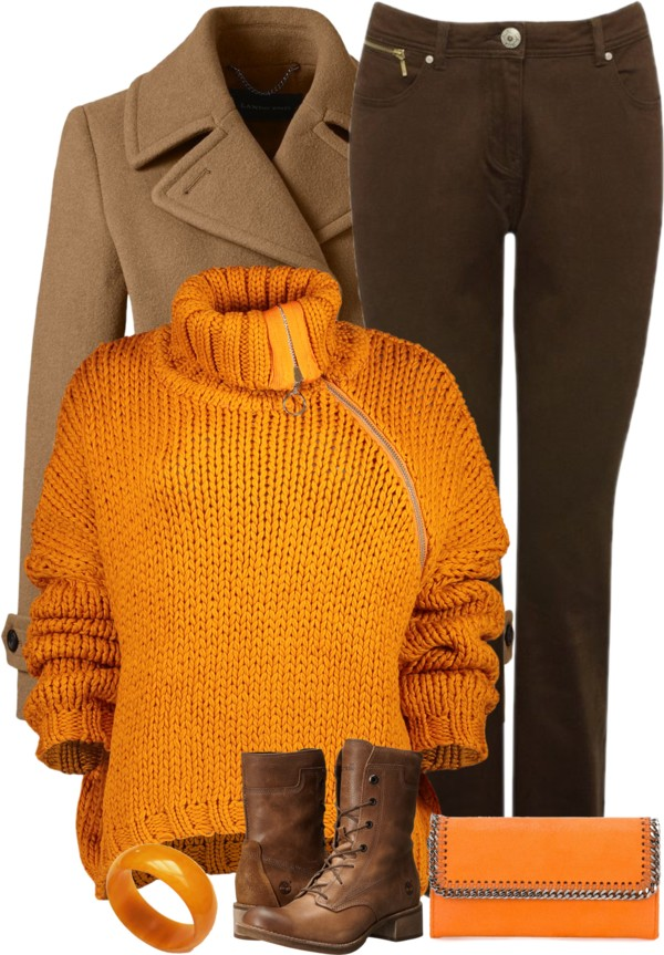 Mustard Chunky Knit Cropped Sweater Casual Fall Outfit outfitspedia