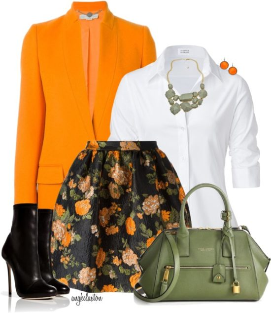 Stylish Floral Skirt For Fall Outfit outfitspedia