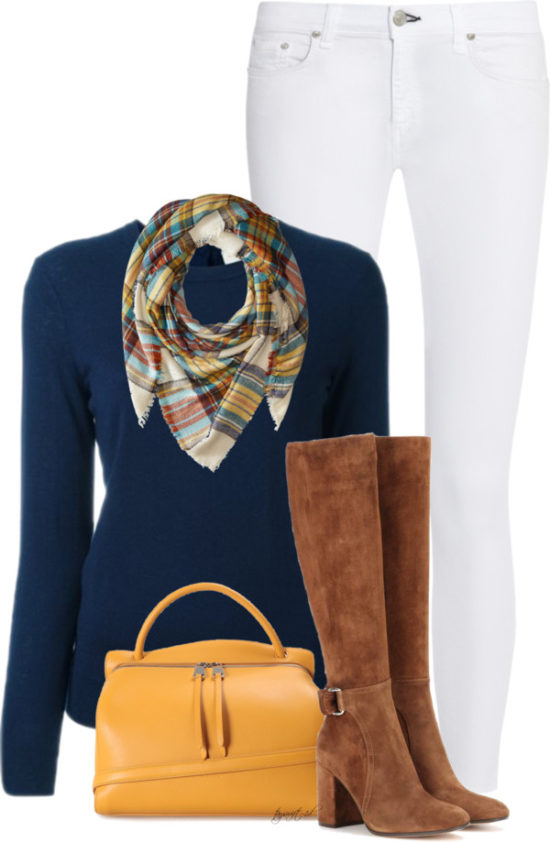 White Skinny Jeans For Fall outfitspedia