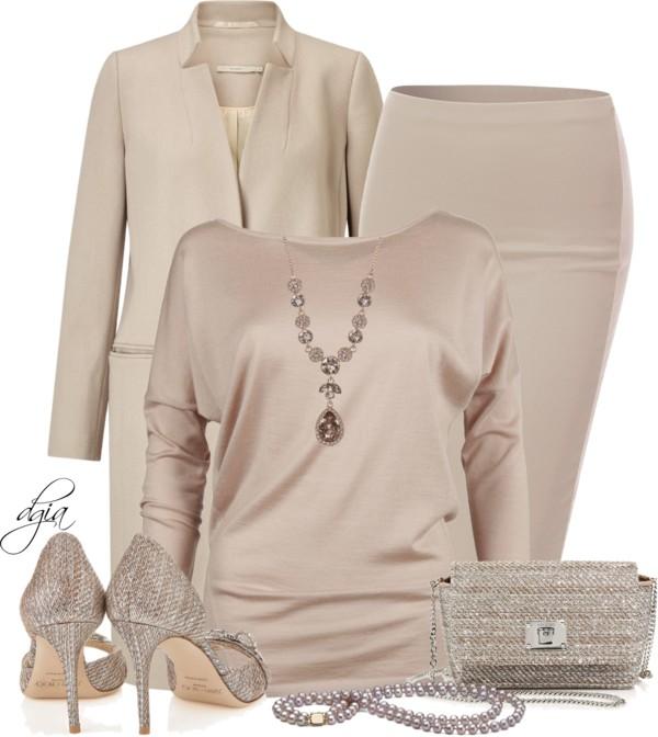 Blush Monochrome Neutral Fall Outfit Idea outfitspedia