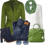 Stylish Green Spring Coat For Fall Outfit