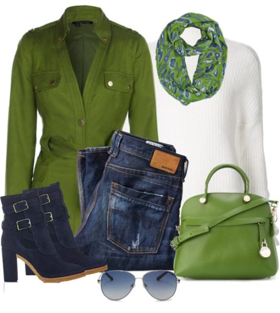 Stylish Green Spring Coat For Fall Outfit outfitspedia