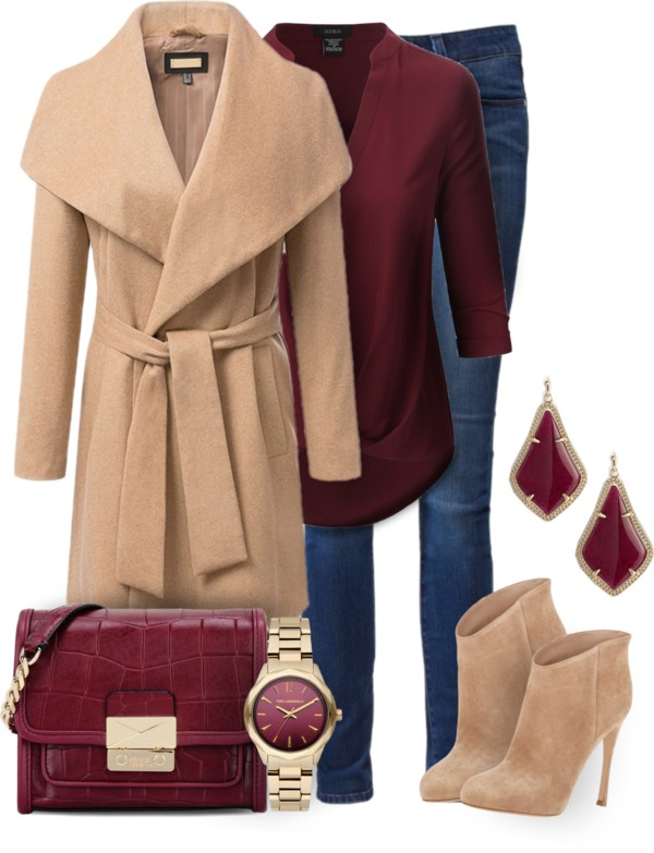 Bring Maroon To Your Winter Collection outfitspedia