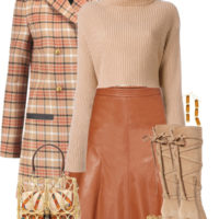 How To Wear Leather Skirt In Fall And Winter Outfit outfitspedia