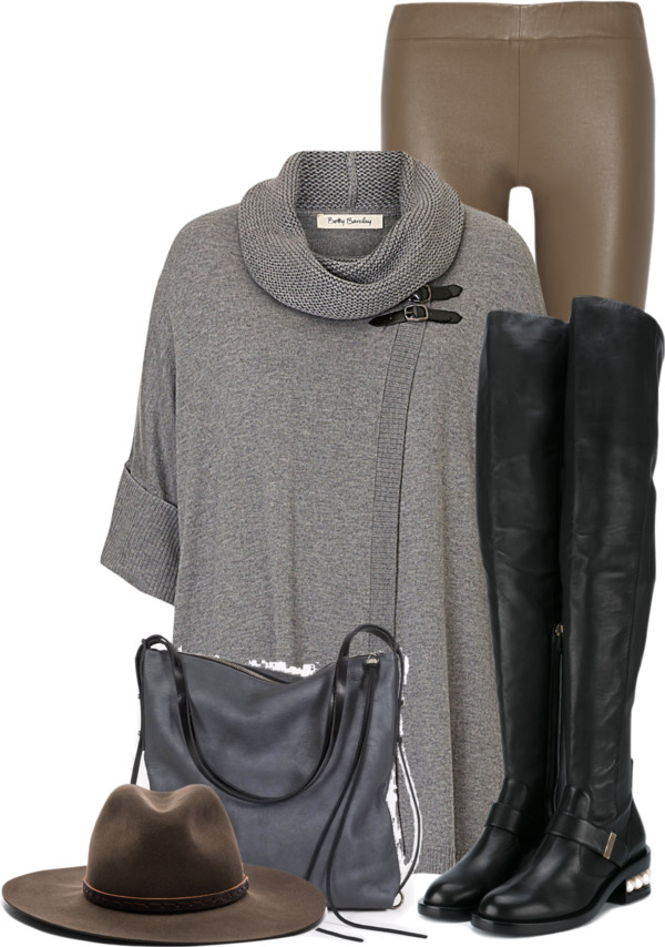 Oversize Sweater and Leggings Fall Outfit outfitspedia